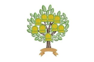 Family Tree with Name Space Relatives Embroidery Design By Embroidery Designs