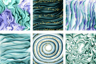 Print on Demand: Fantasy Ocean Digital Papers Graphic Backgrounds By PinkPearly 4