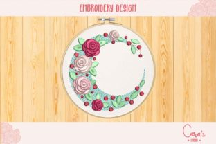 Flowery Moon House & Home Embroidery Design By carasembor