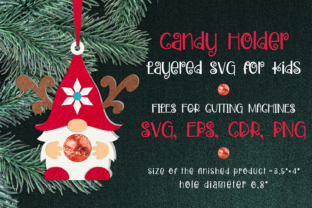 Print on Demand: Gnome Christmas Ornament Candy Holder Graphic 3D Christmas By Olga Belova