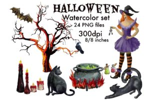 Print on Demand: Magic Clipart Watercolor,Witch Halloween Graphic Illustrations By Marine Universe 2
