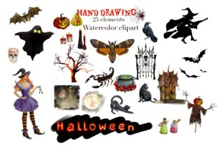 Print on Demand: Magic Clipart Watercolor,Witch Halloween Graphic Illustrations By Marine Universe 4