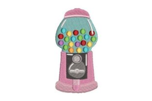 Pink Gumball Machine Toys & Games Embroidery Design By Embroidery Designs