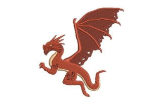 Red Dragon Fairy Tales Embroidery Design By Embroidery Designs