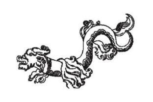 Renaissance Style Sea Serpent Fairy Tales Embroidery Design By Embroidery Designs