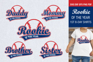 Rookie of the Year Birthday Family Shirt Gráfico Crafts Por PowerVECTOR