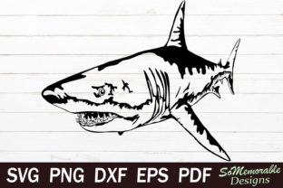 Print on Demand: Shark Graphic Graphic Templates By SoMemorableDesigns