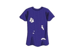 Shirt with Rips in It Clothing Embroidery Design By Embroidery Designs