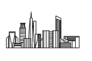 Skyline of a City Cities & Villages Embroidery Design By Embroidery Designs