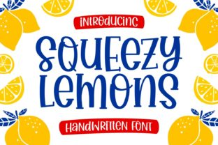 Print on Demand: Squeezy Lemons Display Font By Keithzo (7NTypes)