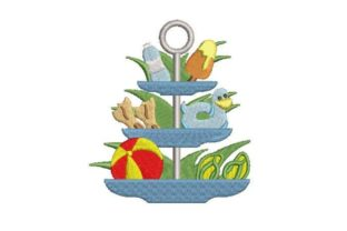 Summer Tiered Tray Pool Theme Summer Embroidery Design By Embroidery Designs