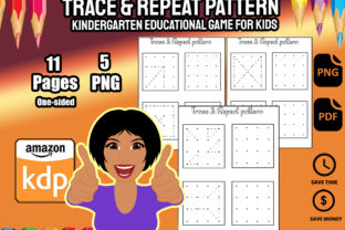 Print on Demand: Trace and Repeat Pattern Graphic PreK By Funnyarti