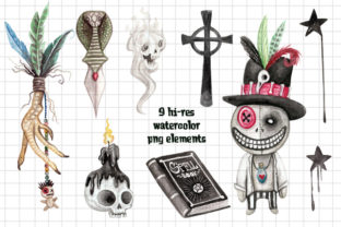 Voodoo Doll Boy Watercolor Clip Art Set Graphic Illustrations By Dapper Dudell 2