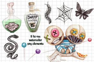 Watercolor Voodo Twins Clip Art Set Graphic Illustrations By Dapper Dudell 2