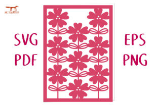 Wild Rose Flower Card SVG Cut File Graphic 3D SVG By Nic Squirrell