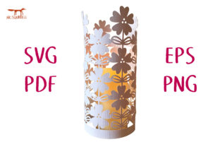Wild Rose Lace Lantern SVG Cut File Graphic 3D SVG By Nic Squirrell