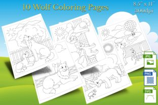 Print on Demand: 10 Wolf Coloring Pages Graphic Coloring Pages & Books By Webmark