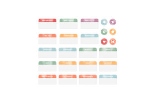 Watercolor Planner Divider Tabs Planner Craft Cut File By Creative Fabrica Crafts
