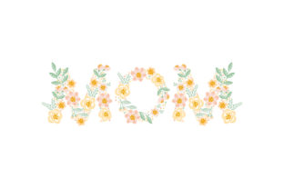 Floral Mom Mother's Day Craft Cut File By Creative Fabrica Crafts