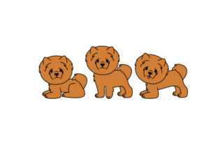 Chow Chow in Various Poses Dogs Craft Cut File By Creative Fabrica Crafts