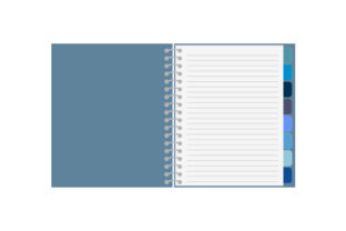 Blue Planner with Spiral Binding Planner Craft Cut File By Creative Fabrica Crafts