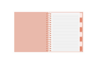 Rose Gold Planner with Spiral Binding Planner Craft Cut File By Creative Fabrica Crafts