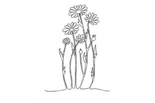 Daisies Bouquets & Bunches Embroidery Design By LizaEmbroidery