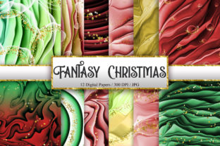 Print on Demand: Fantasy Christmas Digital Papers Graphic Backgrounds By PinkPearly