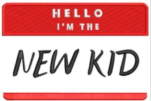 Hello I'm the New Kid Awareness Embroidery Design By Beginner Sewing
