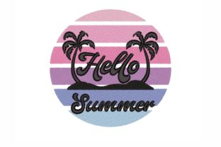 Hello Summer Summer Embroidery Design By SonyaEmbroideryStore