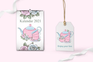 Print on Demand: Love Tea Party Roses Clipart Set Graphic Illustrations By LerVik 6