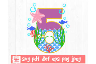 Print on Demand: Number Five Svg, Fifth Birthday Svg Graphic 3D SVG By Craft Box