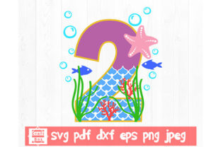 Print on Demand: Number Two Svg, Second Birthday Svg Graphic 3D SVG By Craft Box