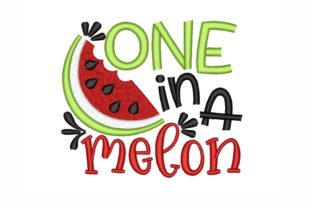 One in a Melon Summer Embroidery Design By SonyaEmbroideryStore