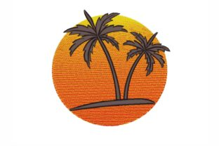 Palm Trees Summer Embroidery Design By SonyaEmbroideryStore