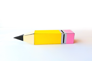 Pencil Gift Box SVG Graphic 3D Shapes By RisaRocksIt