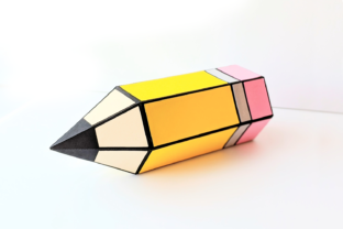 Pencil Hexagon Gift Box SVG Graphic 3D Shapes By RisaRocksIt