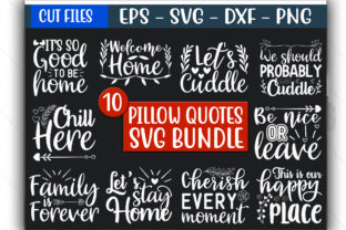 Print on Demand: Pillow Quotes Design Bundle Graphic Print Templates By GraphicsBooth