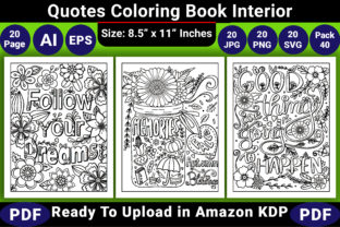 Print on Demand: Quotes Coloring Book Interior Graphic Coloring Pages & Books Adults By KDP Coloring Book