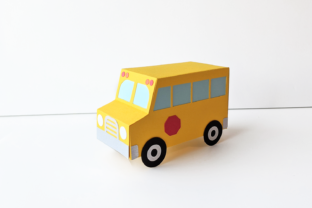 School Bus Gift Box SVG Graphic 3D Shapes By RisaRocksIt