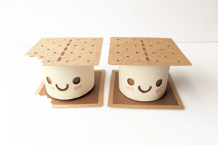 S'more Box with Lid SVG Graphic 3D Shapes By RisaRocksIt