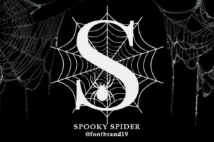 Print on Demand: Spooky Spider Monogram Decorative Font By fontbrand19