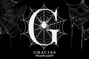 Print on Demand: Spooky Spider Monogram Decorative Font By fontbrand19 10