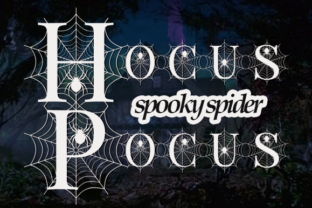 Print on Demand: Spooky Spider Monogram Decorative Font By fontbrand19 4