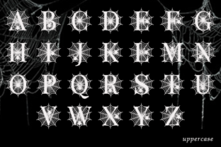 Print on Demand: Spooky Spider Monogram Decorative Font By fontbrand19 6
