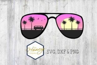 Sunglasses Beach Sunset SVG PNG DXF Graphic Crafts By The Honey Company
