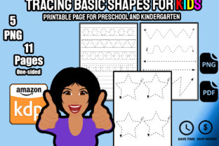 Print on Demand: Tracing Basic Shapes for Kids Kdp Graphic PreK By Funnyarti
