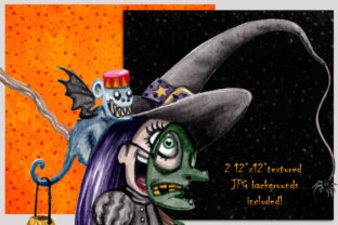 Watercolor Trick or Treating Kids Set Graphic Illustrations By Dapper Dudell 3