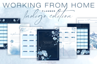 Print on Demand: Working from Home Planner Indigo Edition Graphic KDP Interiors By artsbynaty