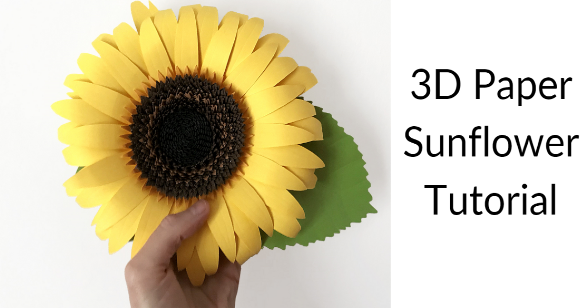 How to Make a 3D Paper Sunflower